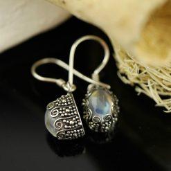 Cercei argint cu piatra lunii