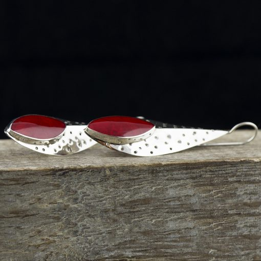Cercei din argint si coral  Produs
