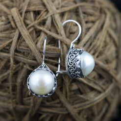 Cecei din argint, cu perla  Produs