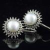 Cercei din argint, cu perle  Produs
