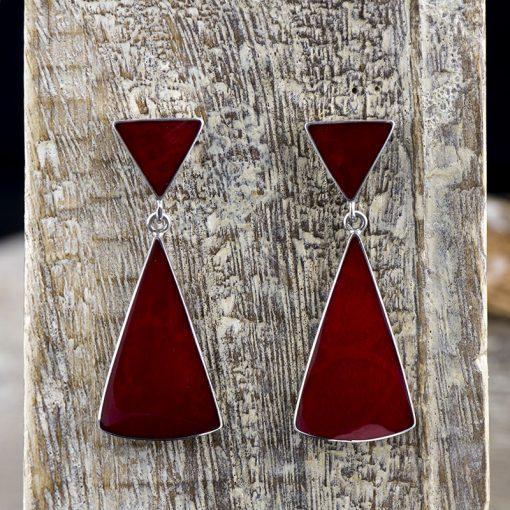 Cercei din argint, cu coral  Produs
