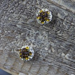 Cercei din argint, cu cristale  Produs