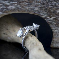 Inel din argint cu zircon  Produs