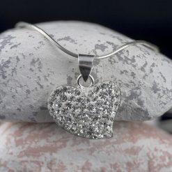 Pandantiv din argint, cu cristale  Produs