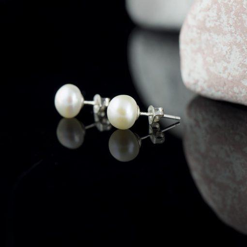 Cercel din argint, cu perla  Produs