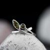 Inel, din argint, cu chihlimbar  Produs