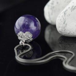 Pandantiv din argint, cu ametist