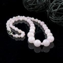 Colier din pietre semipretioase – cuart roz
