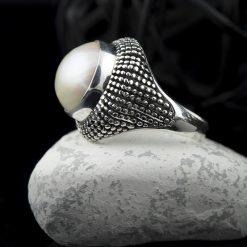 Inel din argint si perla  Produs