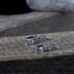 Cercei din argint cu ametist