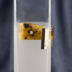 Vaza cu lemn, argint si chihlimbar  Produs