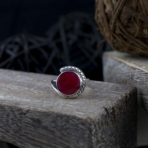 Inel din argint cu coral  Produs