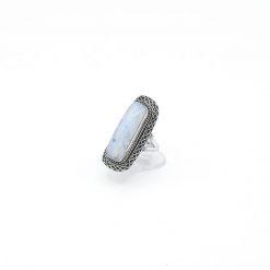 Inel argint piatra lunii