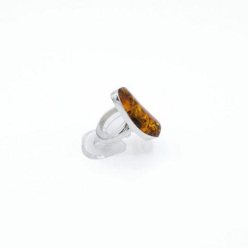 Inel argint cu chihlimbar natural
