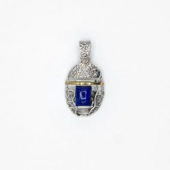 Pandant din argint cu lapis-lazuli
